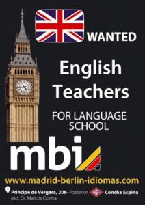 buscamos profesores de inglés