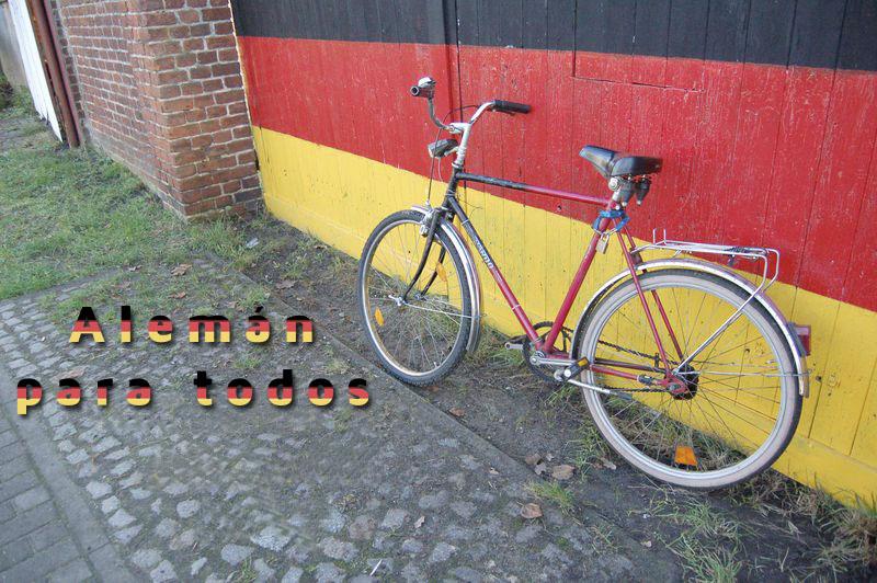 bici con texto aleman