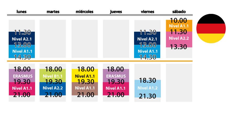 horario aleman septiembre 2013-2014