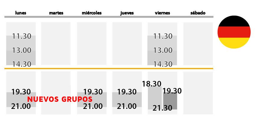 horario referencia aleman